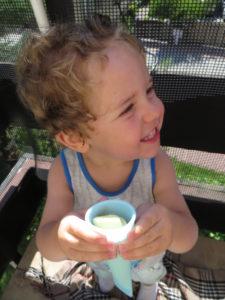 dziecko je domowe lody